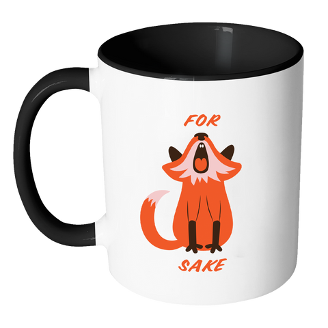 For Fox Sake Coloured Accent Mug-Drinkware-Far Kew Emporium