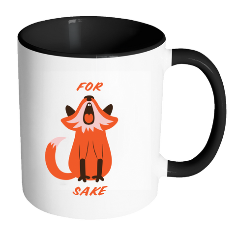 Image of For Fox Sake Coloured Accent Mug