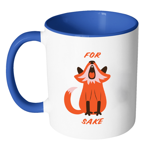 For Fox Sake Coloured Accent Mug
