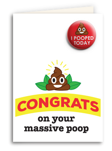 Congrats On Your Massive Poop Card