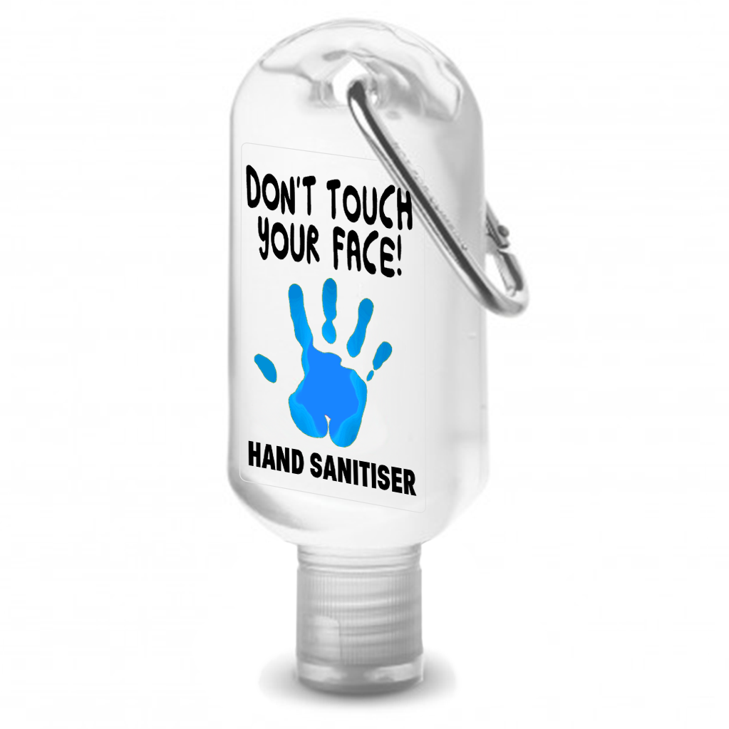 Don't Touch Your Face - Kids 60ml hand Sanitiser With Clip