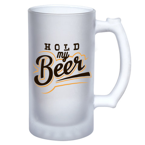 Hold My Beer Frosted Beer Stein