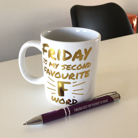 Friday Is My Second Favourite F Word Office Pack