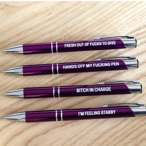 Image of The Ultimate Sweary Purple Pen Pack