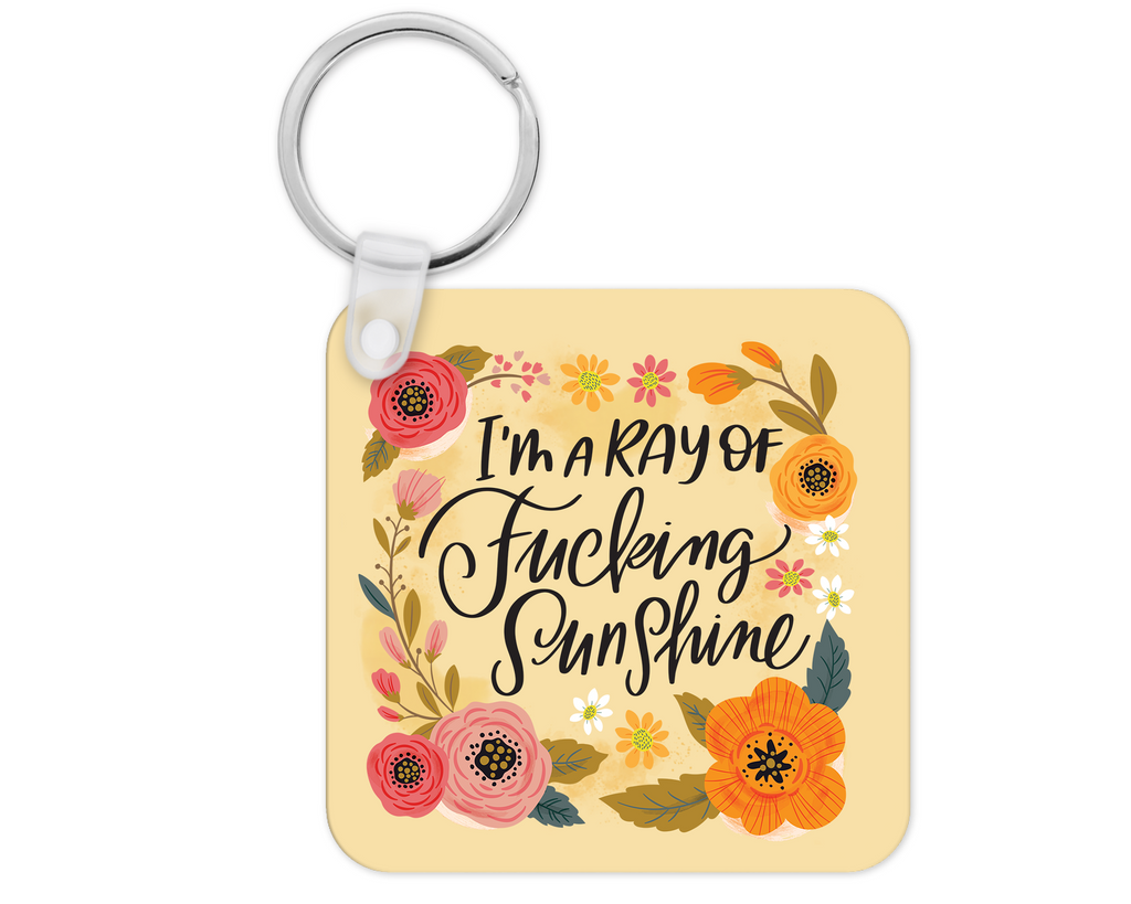 I'm a Ray of Fucking Sunshine Keyring