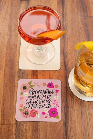 Image of Pretty Sweary Table Coasters