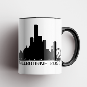 Melbourne Skyline 2020 Middle Finger Mug