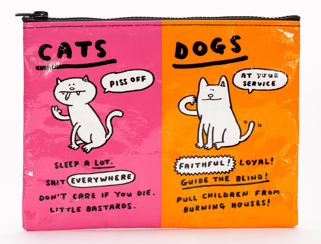 Blue Q Cats & Dogs Zipper Pouch