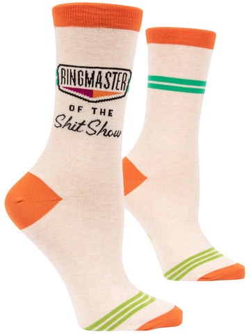 Ringmaster of The Shit Show Womens Socks