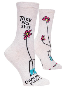 Take No Shit, Give No Fucks Crew Socks