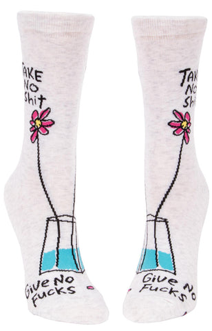 Image of Take No Shit, Give No Fucks Crew Socks