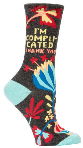 Image of I'm Complicated. Thank You Crew Socks