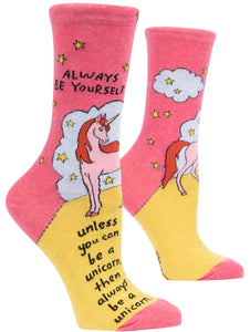 Always Be a Unicorn Crew Socks