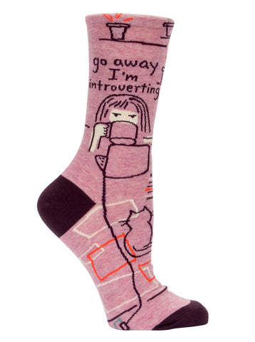 Image of Go Away, I'm Introverting Crew Socks