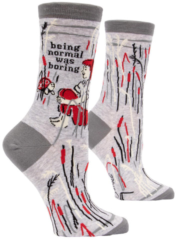 Image of Being Normal Was Boring Crew Socks