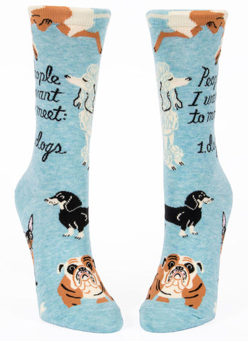 Image of People I Want To Meet: Dogs Crew Socks
