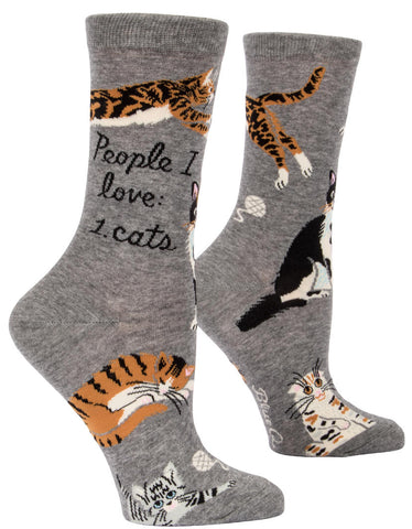 Image of People I Love: Cats Crew Socks