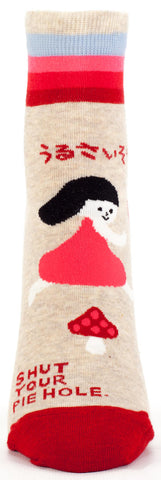 Image of Shut Your Pie Hole Ankle Socks