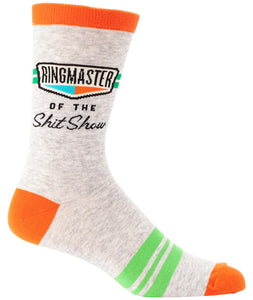 Ringmaster of The Shit Show Men's Socks