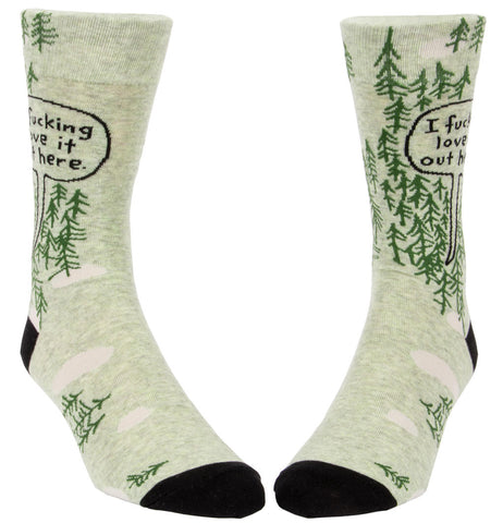 Image of I Fucking Love It Out Here Men's Socks