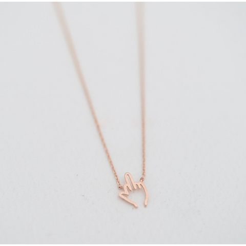 Image of Middle Finger Necklace BUY ONE GET ONE FREE