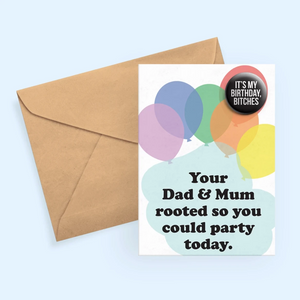 Your Mum & Dad Rooted Card
