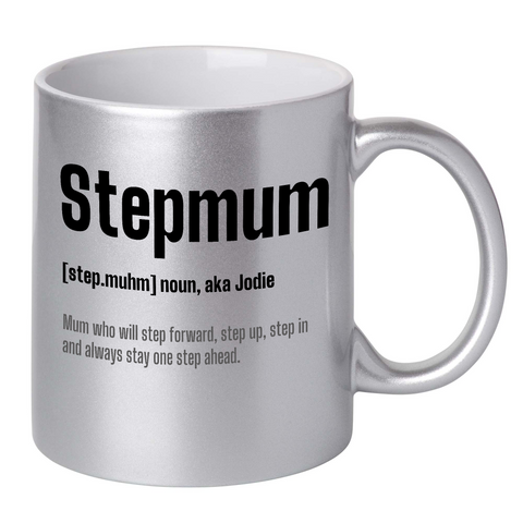 Image of Personalised Stepmum Dictionary Definition Mug (AUSSIE VERSION)