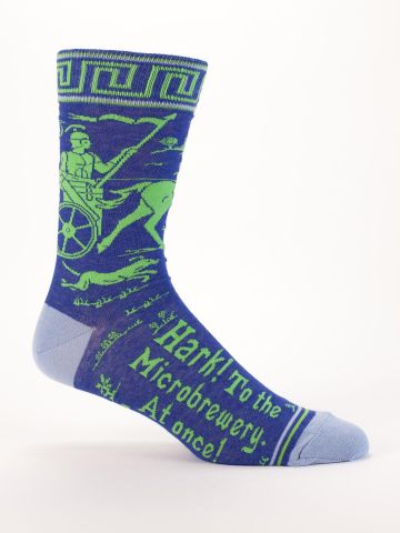 Hark, To The Microbrewery At Once Men's Socks