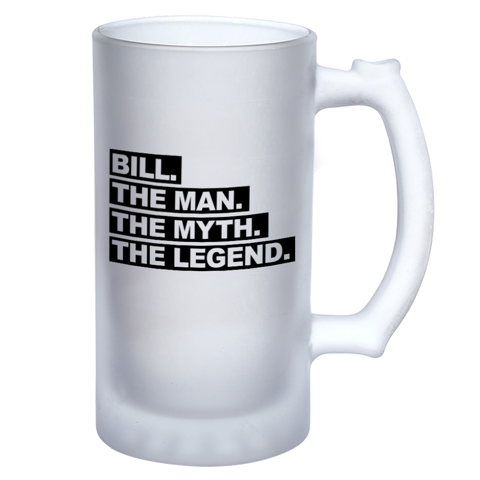 Man Myth Personalised Frosted Beer Stein