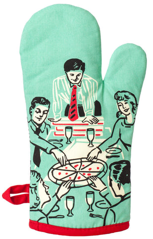 Image of Pizza's Here Oven Mitt
