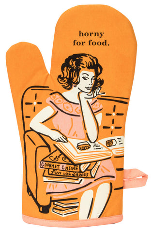 Image of Horny For Food Oven Mitt
