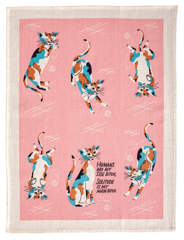 Humans Are My Side Bitch Cat Tea Towel / Dish Towel