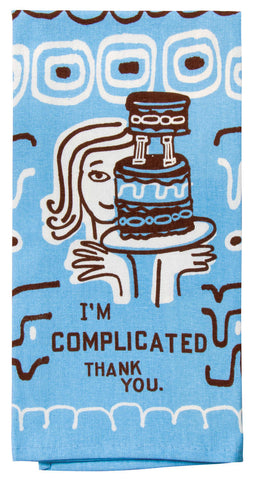 Image of I'm Complicated, Thank You  Tea Towel / Dish Towel