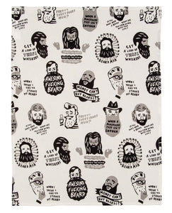 Awesome Fucking Beard Tea Towel / Dish Towel