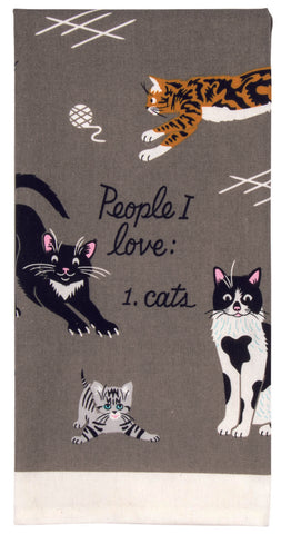 People I Love: Cats Tea Towel / Dish Towel