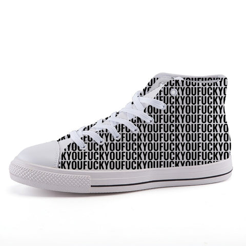 340343beebe Fuck You - High-top fashion canvas sneakers