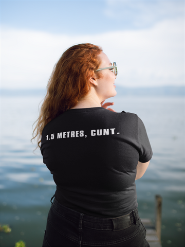 2 Meters, Cunt. Social Distancing Women's T-Shirt