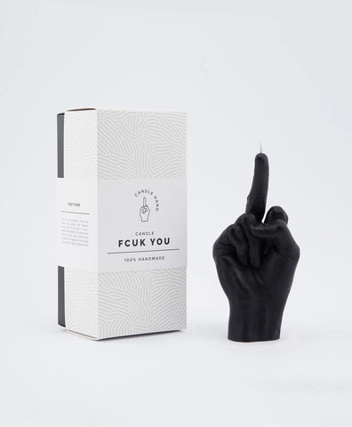 Image of Fuck You Hand Gesture Candle - PRE-ORDER