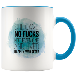She Gave No Fucks - Coloured Accent Mug-Drinkware-Far Kew Emporium