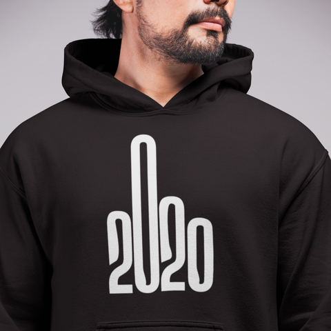 Image of 2020 Middle Finger Logo Unisex Hoodie