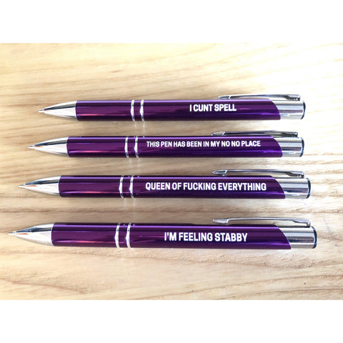 The Ultimate Sweary Purple Pen Pack V2-Far Kew Emporium