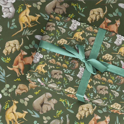 Wild Fur You Australiana Wrapping Paper