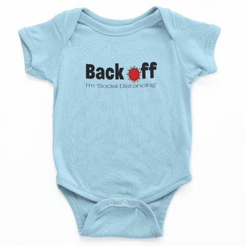 Back Off, I'm Social Distancing Baby Onesie