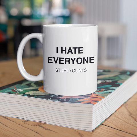I Hate Everyone. Stupid Cunts Mug