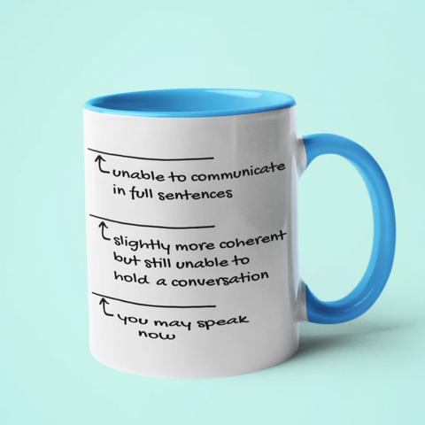 Image of Can't Speak Without Coffee Mug