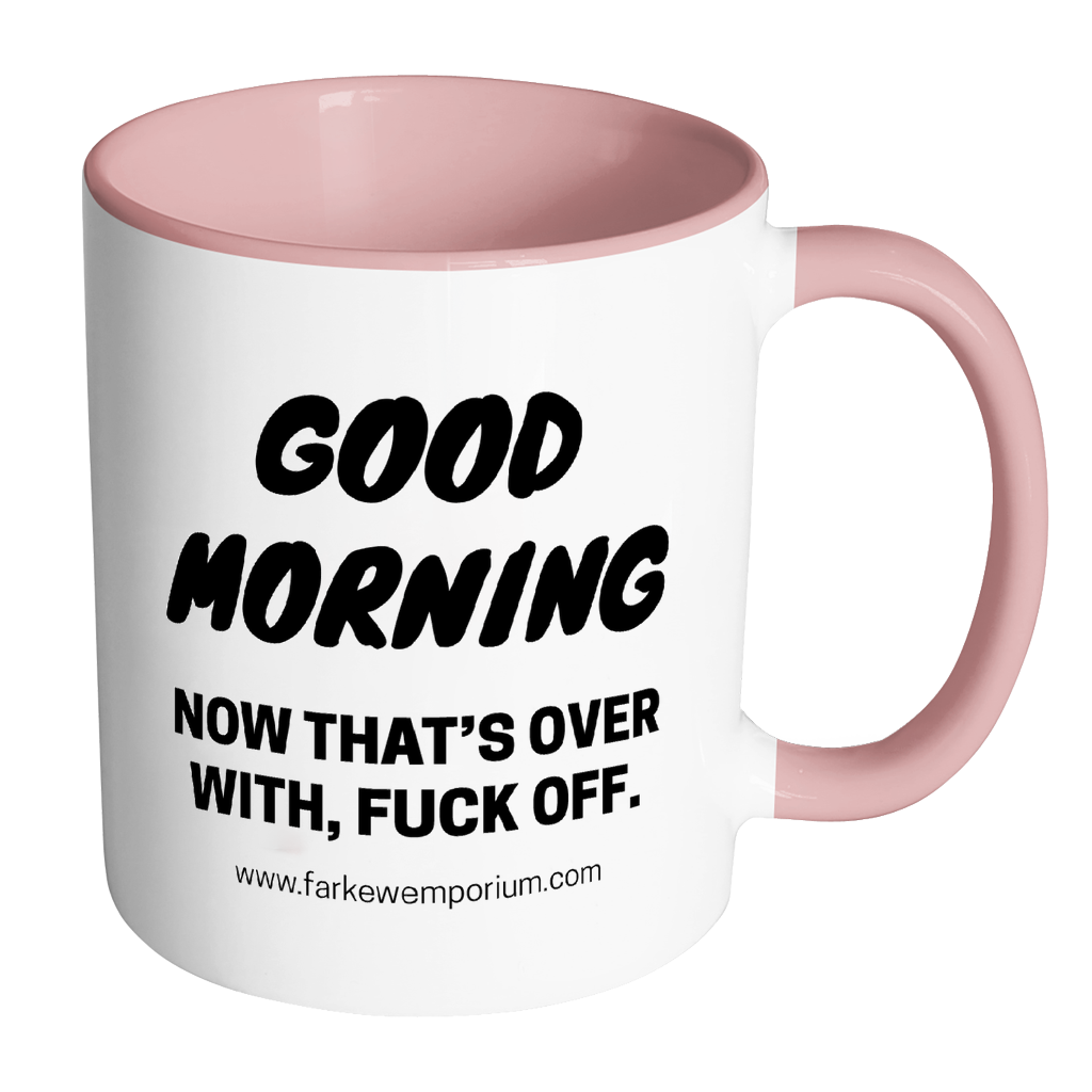 Good Morning & Fuck Off Mug-Drinkware-Far Kew Emporium