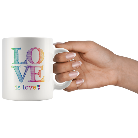 Love is Love White Mug