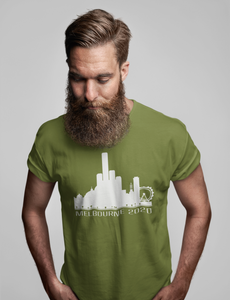 Slightly Fucked Melbourne Skyline 2020 Middle Finger Men's/Unisex T-Shirt