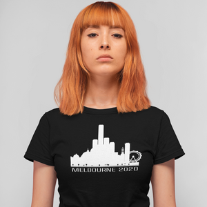 Slightly Fucked Melbourne Skyline 2020 Middle Finger Women's T-Shirt