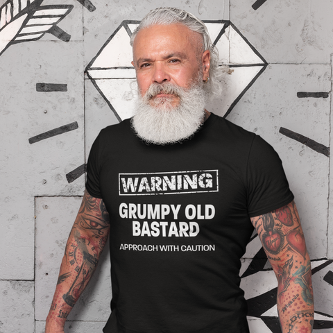 Image of Grumpy Old Bastard Approach With Caution Men's/Unisex T-Shirt